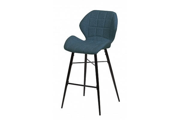 Барный стул MARCEL TRF-06 полночный синий, ткань М-City купить в салоне-студии мебели Барселона mnogospalen.ru много спален мебель Италии классические современные